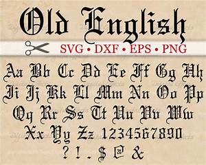 OLD ENGLISH Monogram Svg Font, Gothic Letters, Svg, Dxf ...