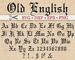 OLD ENGLISH Monogram Svg Font Gothic Letters Svg Dxf Eps
