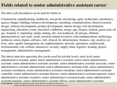 top  senior administrative assistant interview questions