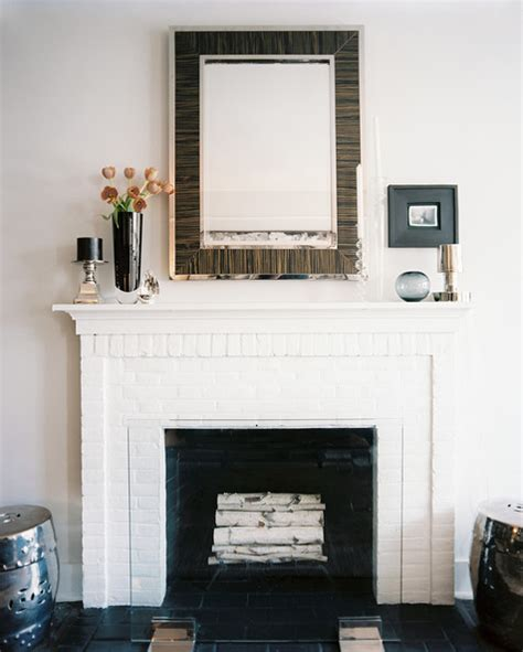 painted white brick fireplace fireplace photos 134 of 187 lonny