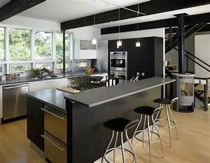 Ilots Central Cuisine : cuisine avec ilot central meuble cuisine design cbel cuisines ~ Melissatoandfro.com Idées de Décoration