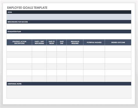 goal setting  tracking templates smartsheet