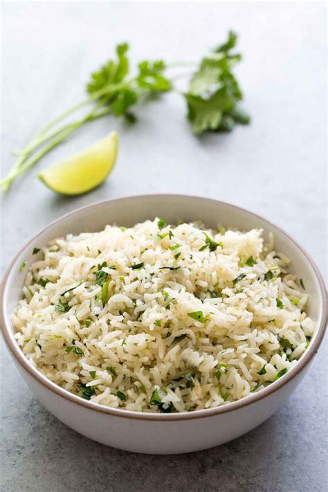 rice cuisine cilantro lime rice recipe simplyrecipes com