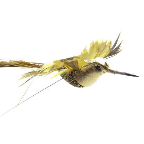 glitzy gold artificial hummingbirds artificial birds and