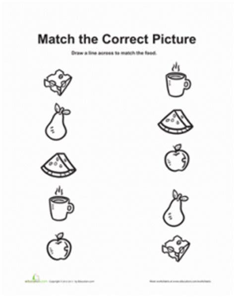 food worksheet  kids crafts  worksheets