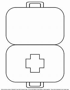 5 best images of doctor kit printables for preschool for Doctor bag craft template