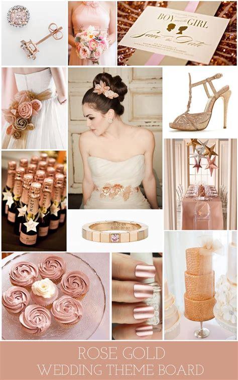 Rose Gold Themed Wedding