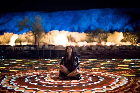 parrtjima  festival  light illuminates alice