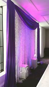 Purple Crystal Backdrop With Lights