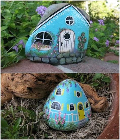 super cute ideas  rock painting craft diy home decor