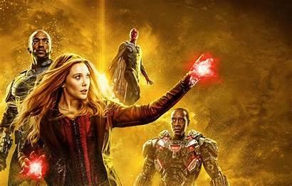 Marvel Poster Endgame Witch Scarlet Vision Avengers