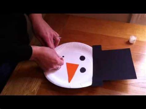 snowman arts and crafts children s crafts paper plate snowman 5448