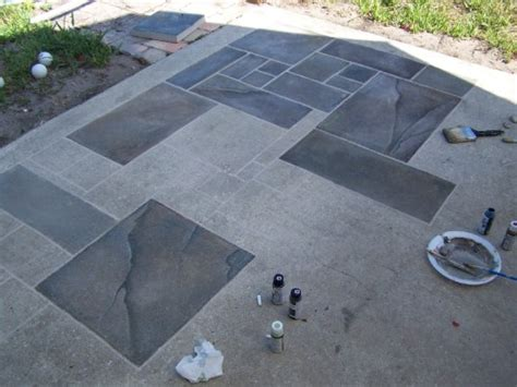 concrete patio faux slate w i p wetcanvas home