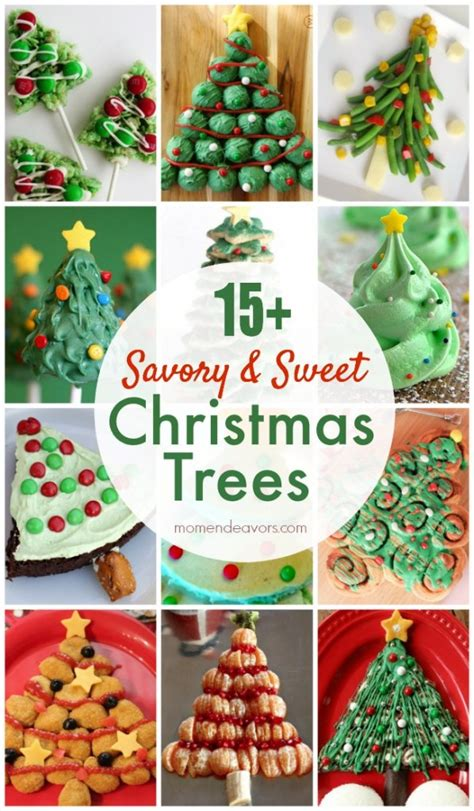 savory sweet edible christmas tree recipes