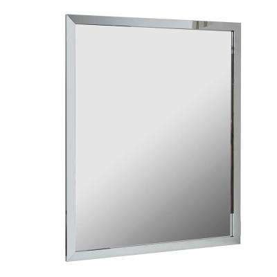 Chrome Framed Bathroom Mirror by Chrome Bathroom Mirrors Bath The Home Depot