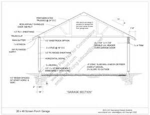 garage plans with porch free pdf plan 26 39 x 48 39 screen porch office