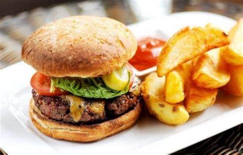 homemade beef burger  stilton rarebit burger sauce