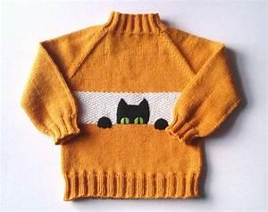 Pullover Mit Katze : black cat kids sweater fox color baby pullower orange sweater made to order dies das ~ Frokenaadalensverden.com Haus und Dekorationen