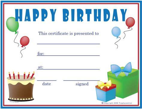 birthday boy certificates certificate
