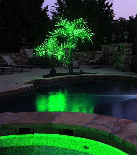 light up palm tree outdoor lighted artificial palm trees yard envy