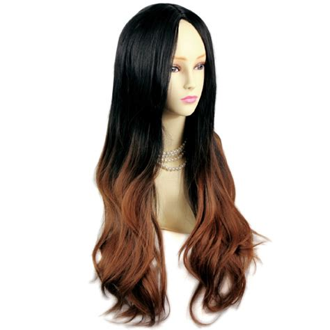 Wiwigs Amazing Style Black Brown And Red Long Wavy Lady