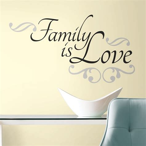 family  love wall decals black room stickers room