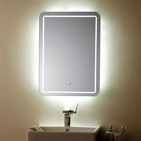 interrupteur pour le de bureau miroir vertical argenté à ampoules led de salle de bains