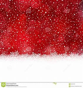 Red White Winter, Christmas Background With Snow Flake ...