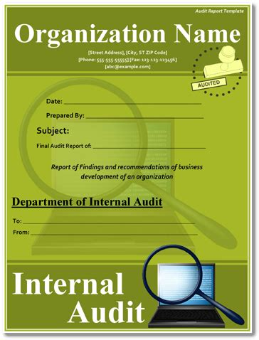 audit report examples   sample templates