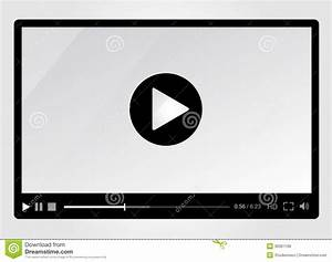 Video Player For Web, Minimalistic Design Royalty Free