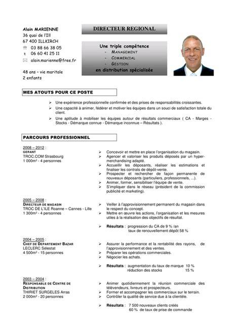modele cv cadre commercial cv am pdf par alain fichier pdf