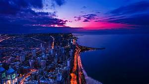 New Windows Computers Chicago Sunset Wallpapers Hd Wallpapers Id 13351