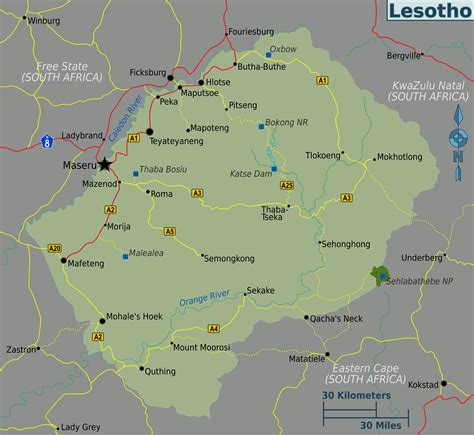 File:Lesotho regions map.png - Wikimedia Commons