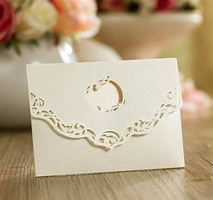 10 perla with cut out circle ivory pearlescent laser cut With laser cut wallet wedding invitations