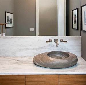 vasque salle de bain originale en 25 idees de design unique With salle de bain design avec vasque pierre brute