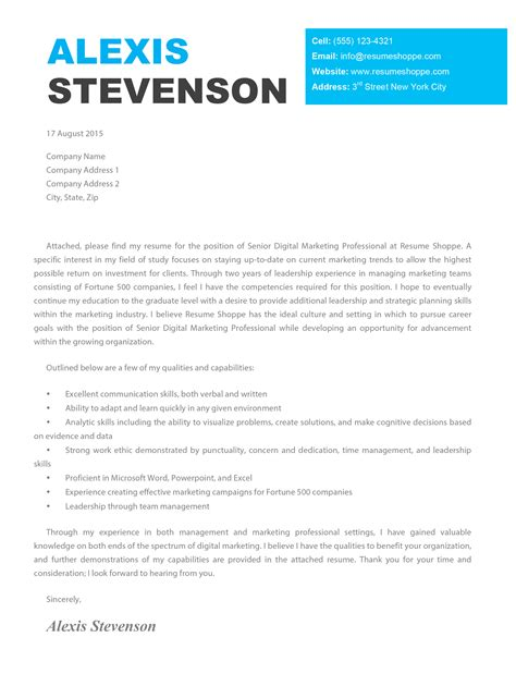 Cover Letter by The Cover Letter Creative Cover Letter