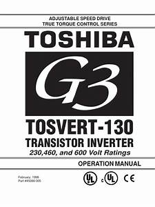 Toshiba G3 Ac Inverter Operations Manual Pdf