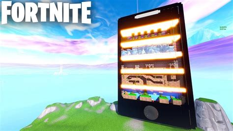 fortnite mobile cellphone parkour map  code