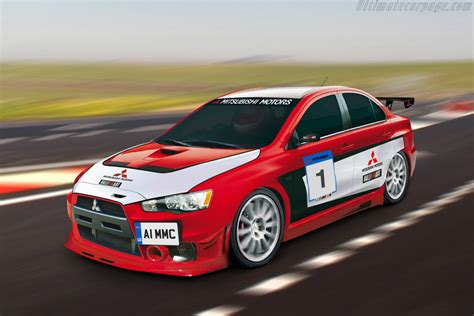 mitsubishi lancer evo  race car images