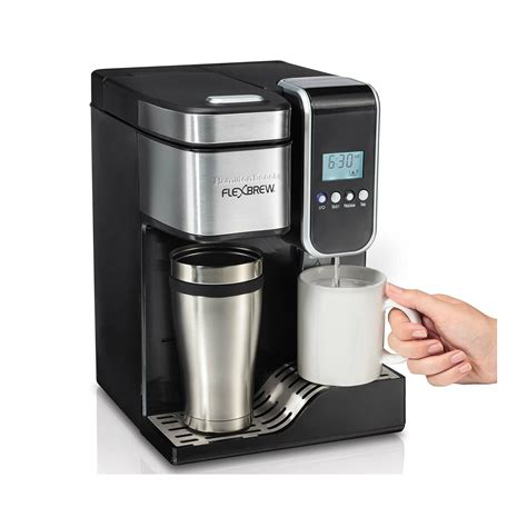 Learn about the difference between models: Hamilton Beach FlexBrew Programmable Single-Serve Coffee ...
