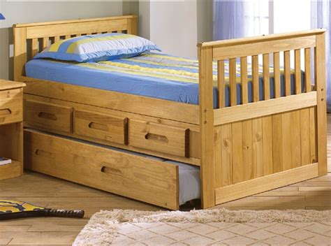 Size Captains Bed With Trundle by Expeditions Size Trundle Captains Bed Bed Frames