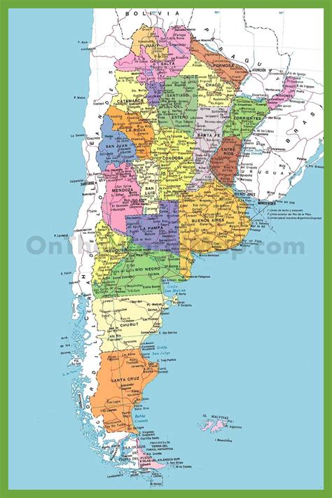detailed map  argentina  cities