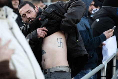 Someone Needs To Tell Man With A Nazi Tattoo What The
