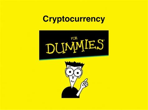 For Dummies by Cryptocurrency For Dummies