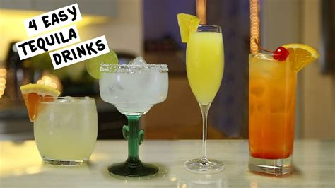 drinks with tequila four easy tequila drinks youtube