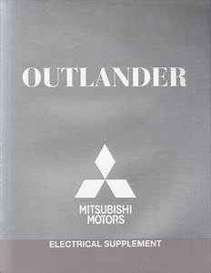 2014 Mitsubishi Outlander Wiring Diagram Manual Original