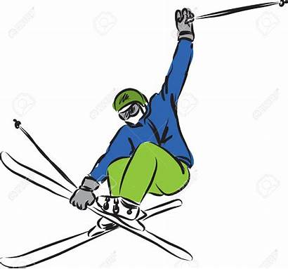 Ski Clipart Jump Jumping Vector Illustration Clipground