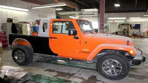 custom jeep wrangler jk  truck conversion youtube