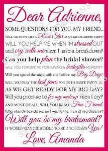 additional personalized bridesmaid maid of by With will you be my maid of honor letter