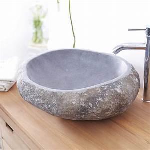 vasque en pierre de riviere vasques forme galet nobu sur With vasque salle de bain en pierre